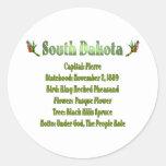 Pegatina del estado Info de Dakota del Sur