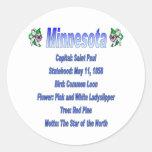Pegatina del estado Info de Minnesota