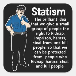Pegatina del estatismo