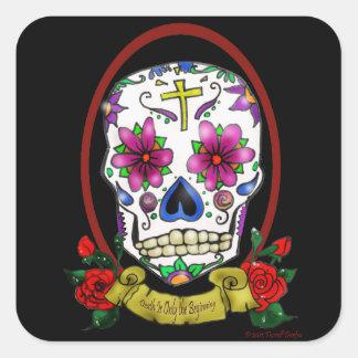 Pegatina del estilo del tatuaje del cráneo del