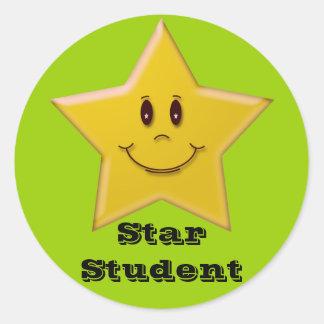 Pegatina del estudiante de la estrella