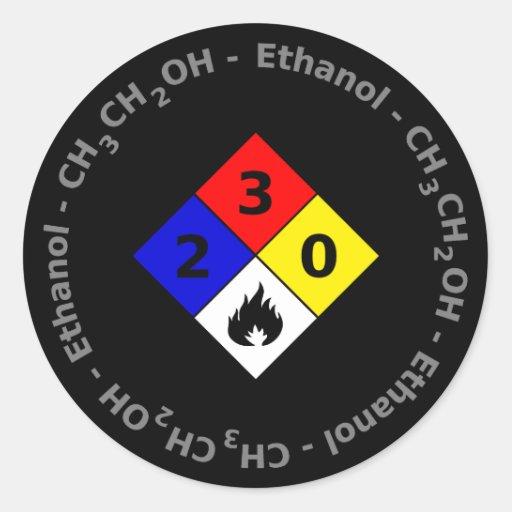Pegatina del etanol MSDS