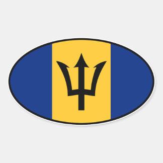 Pegatina del euro de Barbados