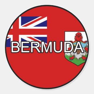 Pegatina del euro de Bermudas