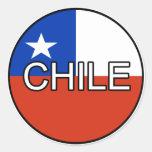 Pegatina del euro de Chile