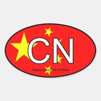 Pegatina del euro de China