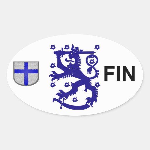 Pegatina del euro de Finlandia