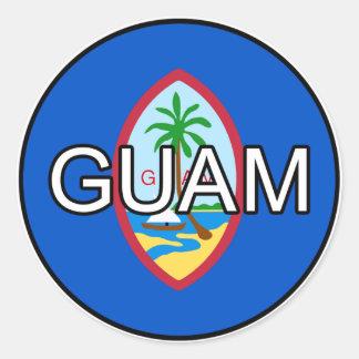 Pegatina del euro de Guam