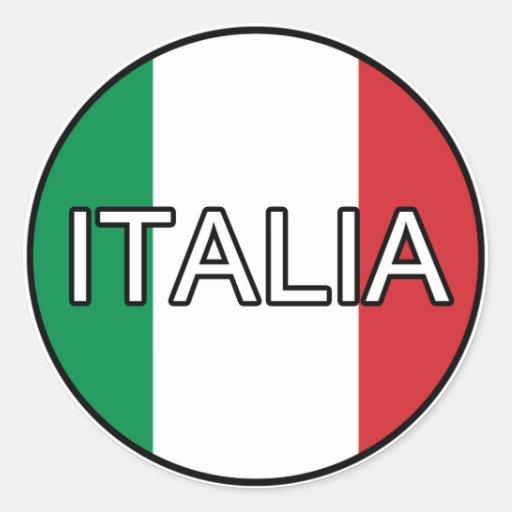 Pegatina del euro de Italia Italia