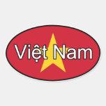 Pegatina del euro de la bandera de Vietnam