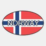 Pegatina del euro de Noruega