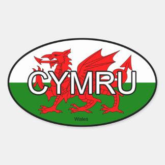 Pegatina del euro de País de Gales CYMRU
