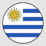 Pegatina del euro de Uruguay