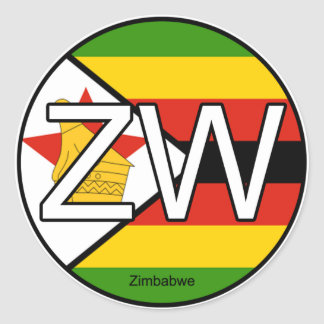 Pegatina del euro de Zimbabwe