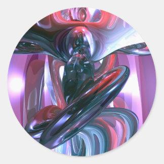 Pegatina del extracto de la alucinación del baile
