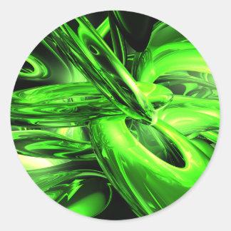 Pegatina del extracto de la radiación gamma