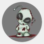 Pegatina del extranjero del zombi