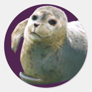 Pegatina del Fauna-partidario del PERRITO de HARBO