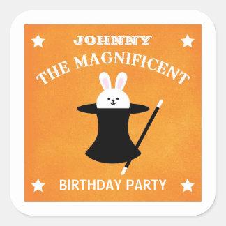 Pegatina del favor de la fiesta de cumpleaños del