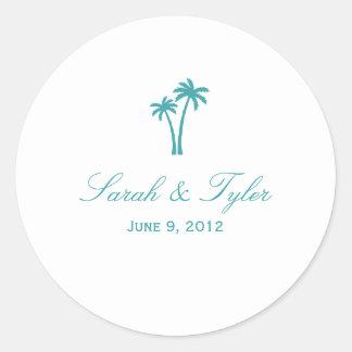 Pegatina del favor de las palmeras -