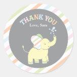 Pegatina del favor del elefante el | del bebé