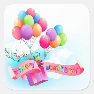 Pegatina del feliz cumpleaños