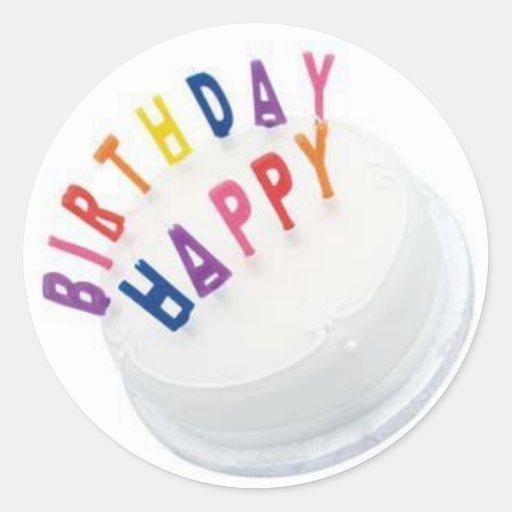 Pegatina del feliz cumpleaños GRANDE