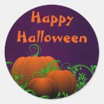 Pegatina del feliz Halloween