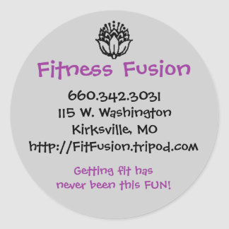 Pegatina del FF con el contacto Info