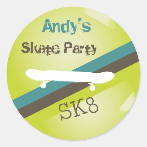 Pegatina del fiesta de los muchachos SK8