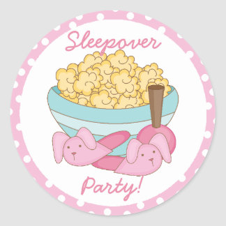 Pegatina del fiesta del Sleepover