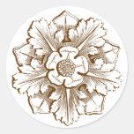 Pegatina del Flourish de la catedral de la sepia