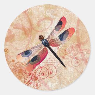 Pegatina del Flourish de la libélula