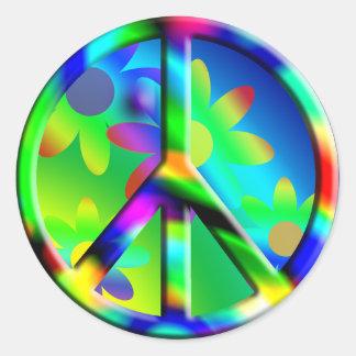 Pegatina del flower power del Hippie del signo de