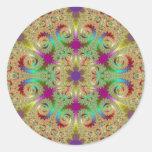 Pegatina del fractal