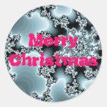 Pegatina del fractal de las Felices Navidad