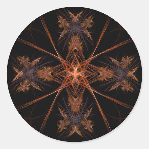 Pegatina del fractal del ~ del ángulo del ángel