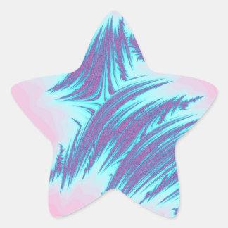 Pegatina del fractal - estrella (20 por la hoja)