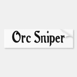 Pegatina del francotirador de Orc Pegatina Para Coche