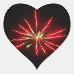 pegatina del fuego artificial del corazón