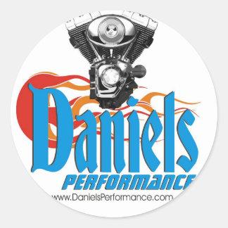 Pegatina del funcionamiento de Daniels