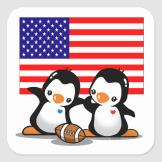Pegatina del fútbol de América