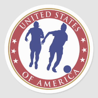 Pegatina del fútbol de las mujeres de los E.E.U.U.