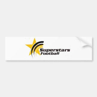 Pegatina del fútbol de las superestrellas etiqueta de parachoque