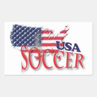 Pegatina del fútbol de los E.E.U.U.