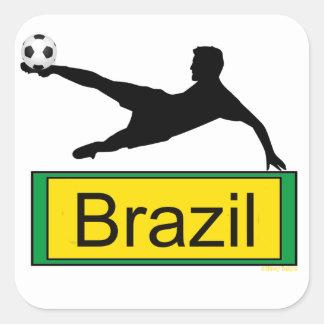 Pegatina del fútbol/del Brasil