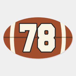 Pegatina del fútbol del número 78