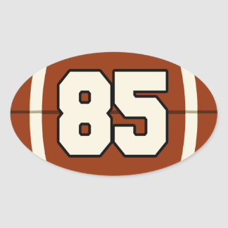 Pegatina del fútbol del número 85