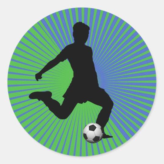 Pegatina del fútbol - verde del muchacho