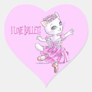 Pegatina del gatito de la bailarina